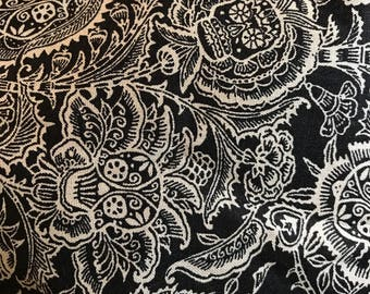 "Day of the Dead - skulls .625 yard (22"") of 44"" fabric"