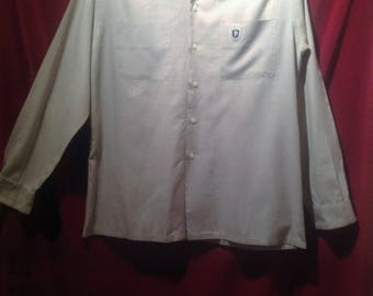 Vintage Mens Long sleeve shirt / label - The Monogram Shirt by PURITAN