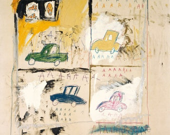 Jean-Michel Basquiat Old Cars, 1981