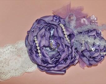 Lavender baby headband ott