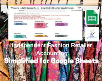 Simplified Version for Google Sheets 2017 - Accounting for Independent Fashion Retailers