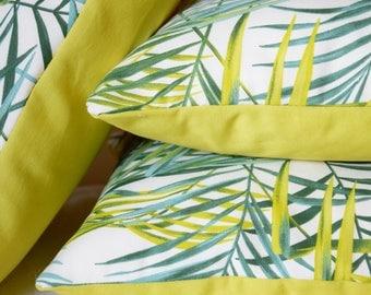Palm tree Tropical Vegeta 40 x 40 cm back green plants Cushion cover / Jungle / exotic / Pal