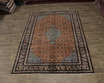 Amazing Pattern Handmade S Antique Ardebil Persian Area Rug Oriental Carpet 7X11