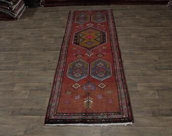 Geometric S Antique Handmade Runner Meshkin Persia Area Rug Oriental Carpet 4X13
