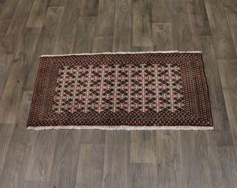 Handmade Tribal Rare Small Wool Turkoman Persian Rug Oriental Area Carpet 2X4