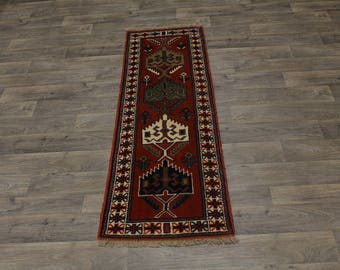 Authentic Handmade Runner Ghoochan Persian Area Rug Oriental Carpet 2ʹ2X6ʹ6