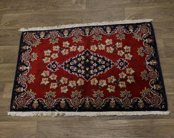 Stunning Small Entrance Unique Kashan Persian Rug Oriental Area Carpet 2'4X3'4