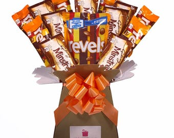 Revels & Minstrels Chocolate Bouquet - Sweet Hamper Tree Explosion - Perfect Gift