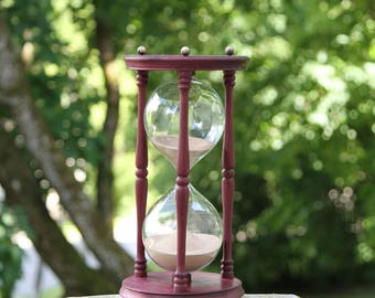 Hourglass, Sand glass, , Sand clock, Sand timer, Rustic home décor, Vintage style interior detail