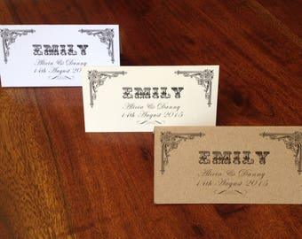 Wedding Place/Name Cards Personalised x 10