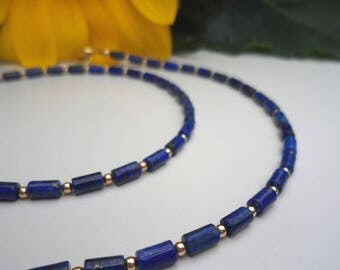 Lapis lazuli necklace & gold