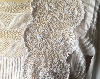 SORRY RESERVED  French Antique Irish Lace & Cotton Blouse / Victorian Romantic Blouse / Hand Made Intricate 1800s Blouse / Wonderful Detail