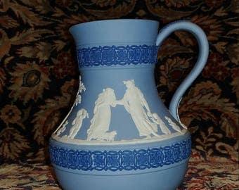 "Wedgwood tri color jasperware 5"" Portland jug with sacrifice figures"