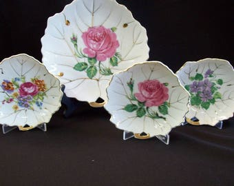 Vintage 1950's Viceroy China 4 piece Set of Dishes