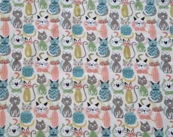 Cats multicolor Coaxers - Ecru background.