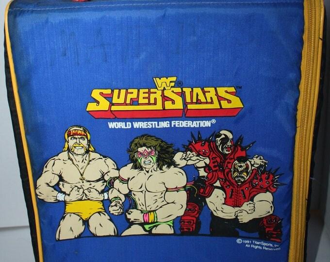 Vintage WWF Superstars World Wrestling Federation Backpack Hulk Hogan Ultimate Warrior Legion of Doom 1991