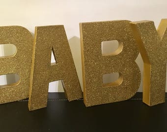 Baby Letters,8inches,baby Shower Backdrop,baby Shower Decorations,gold Baby  Shower