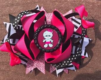 Halloween bow mummy halloween hair bow halloween headband mummy hair bow babys first halloween bow halloween costume bow hallo