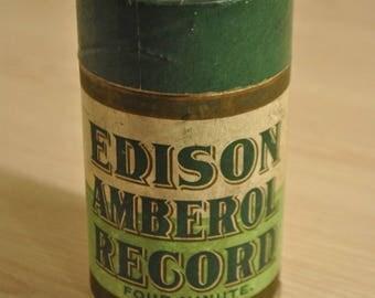 Vintage Edison Record (Empty) Cylinder Phonograph Tube