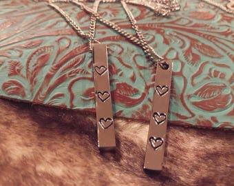 Block Pendant Necklace