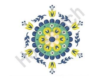 Floral Mandala - Machine Embroidery Design - 4 X 4 Hoop, Decoration, Swedish, Sweden