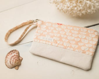 Small Katrina Pouch, Pink Sproutlet and Natural
