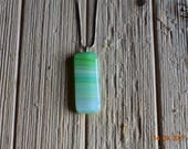 Green and White Pendant w/ necklace