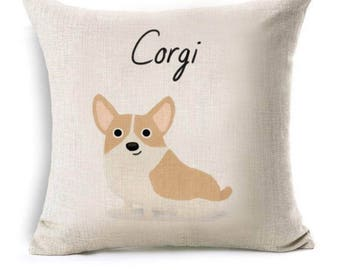 Corgi pillow cover/case