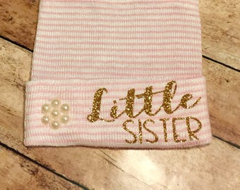 Little Sister Newborn hat