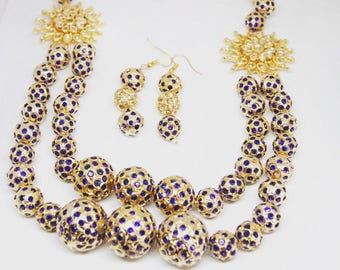 Indian Necklace & Earrings