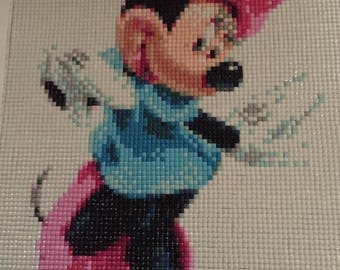 Painting created by Minnie embroidery diamond 5 d Painting rhinestone shiny