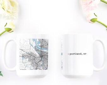 Portland Oregon - Personalized Mug - Ceramic Coffee Cup - Pacific Northwest - Housewarming Gift