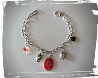 Shades of Red chain bracelet