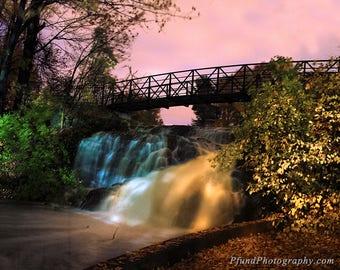 New England Waterfall - Sunrise - Landscape Photography - Fine Art Print - Limited Edition