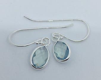 Blue Opalite Sterling Silver Gemstone Earrings