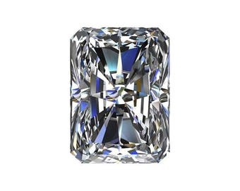 Loose Colorless Moissanite Radiant Cut - Celestial Premier Moissanite - Colorless