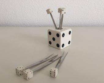 Dice forks prick cherry snacks dice tapas snack forks dice forks in standard