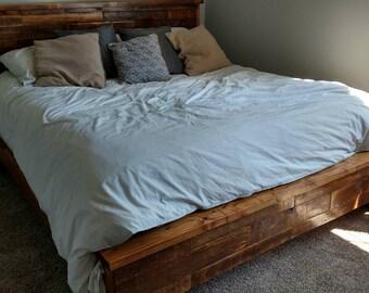 Reclaimed Wood Platform Bedframe
