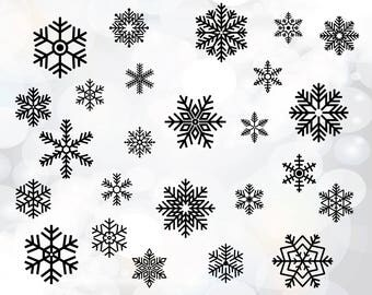 Hand drawn snowflake svg file - Snowflakes cut file - Snowflakes Svg - Winter Svg - Christmas Svg - Svg Cut Files - Snow Svg - Cut Files