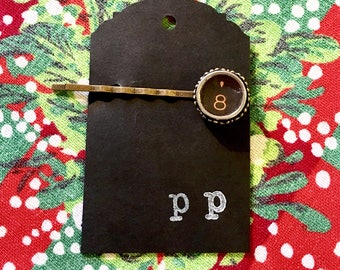 Typewriter key barrett, vintage type writer key hair pin, vintage hair pin, typewriter hair clip, something old, wedding something old
