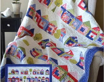 Tiny House Craze quilt pattern by Jillily Studio, Jill Finley