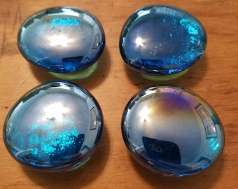 Blue glass magnets