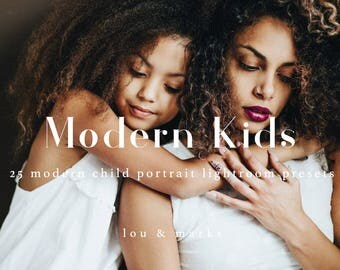 Modern Kids Lightroom Presets, Modern toned, Vibrant, Bright & Airy Presets for Photo Editing in Lightroom
