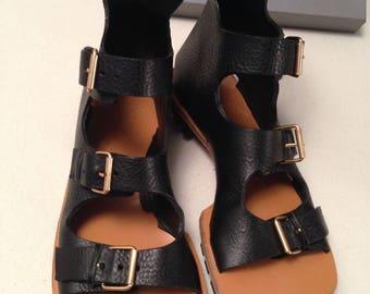 Vivienne Westwood Men Gladiator Sandals Animal toe WESTWOOD MAN LEATHER sandals
