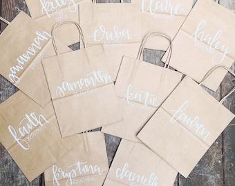 Custom Hand-Lettered Gift Bags