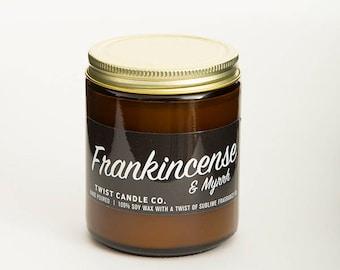100% Soy Wax Candle — Frankincense & Myrrh 7oz