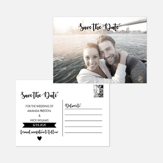 Photo save the date postcards, Rustic wedding save the date cards, Wedding photo save the date, Custom save the date, Save our date, A6