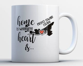 Prince Edward Island Coffee Mug - Heart Is In Prince Edward Island - Prince Edward Island Province Gifts - PEI Canada Gifts