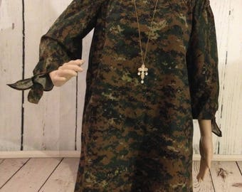 Camouflage Off The Shoulder Dress /Camouflage Dress /Camouflage Tunic Dress