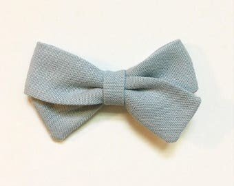 Light Blue Classic Bow - Baby Bows - Baby Hair Clips - Baby Headbands - Toddler Headband - Baby Hair Bows - Hair Bows